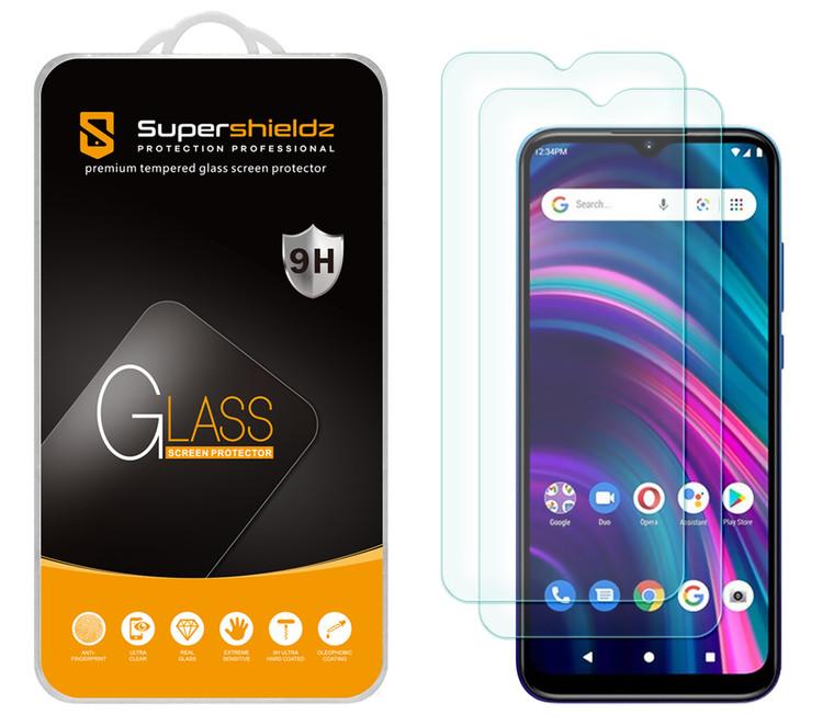 [2-Pack] Supershieldz for BLU G51 Plus Tempered Glass Screen Protector, Anti-Scratch, Anti-Fingerprint, Bubble Free