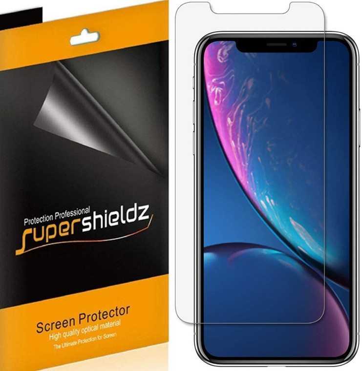 75pcs Supershieldz for Apple iPhone 11 / iPhone XR (6.1 inch) Screen Protector, Anti-Bubble High Definition (HD) Clear Shield (No Retail Packaging)