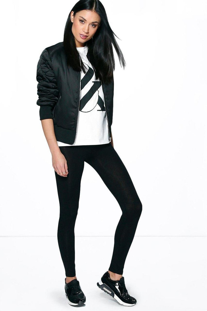 Fifth Avenue Basic Jersey Leggings - Black