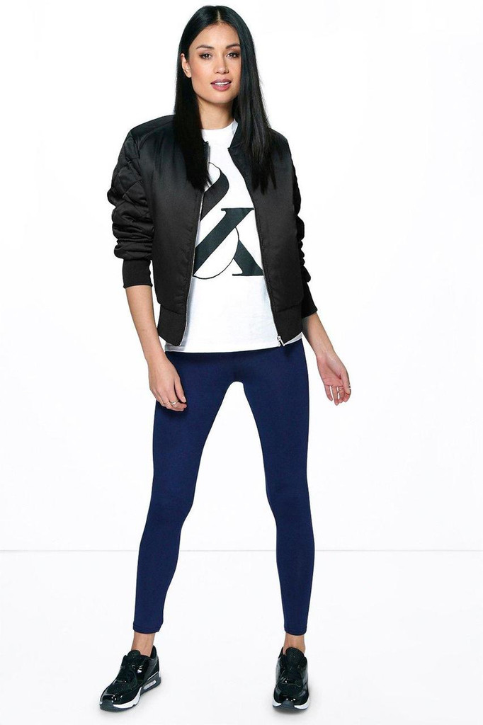 Fifth Avenue Basic Jersey Leggings - Navy Blue