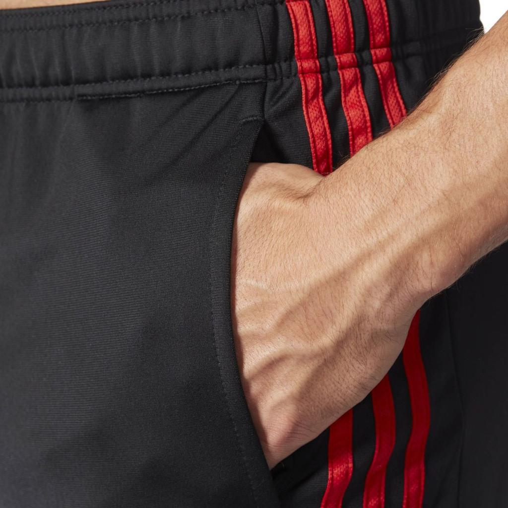 Fifth Avenue Men's Dri-Fit Tri Stripe Track Pants - Black and Red