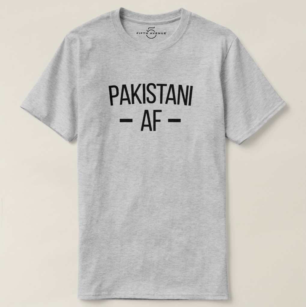 Fifth Avenue Pakistani AF T-Shirt - Heather Grey