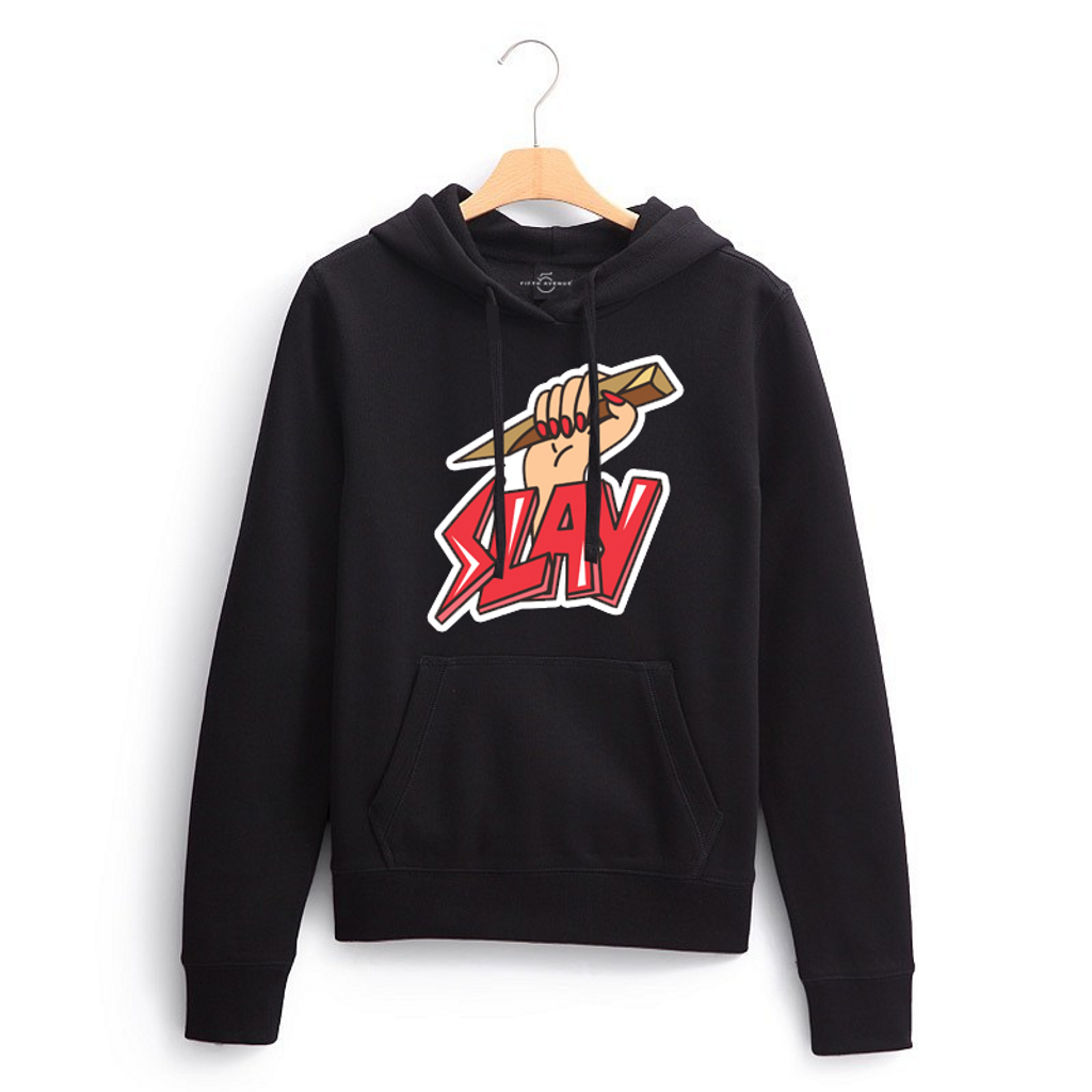 Fifth Avenue Slay Print Hoodie - Black