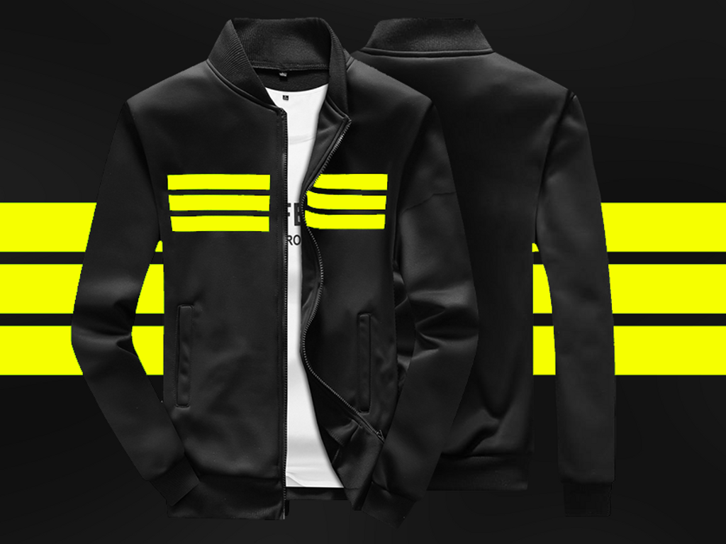 Fifth Avenue Limited Edition Sports Jacket - Fleece Version - Black and Yellow