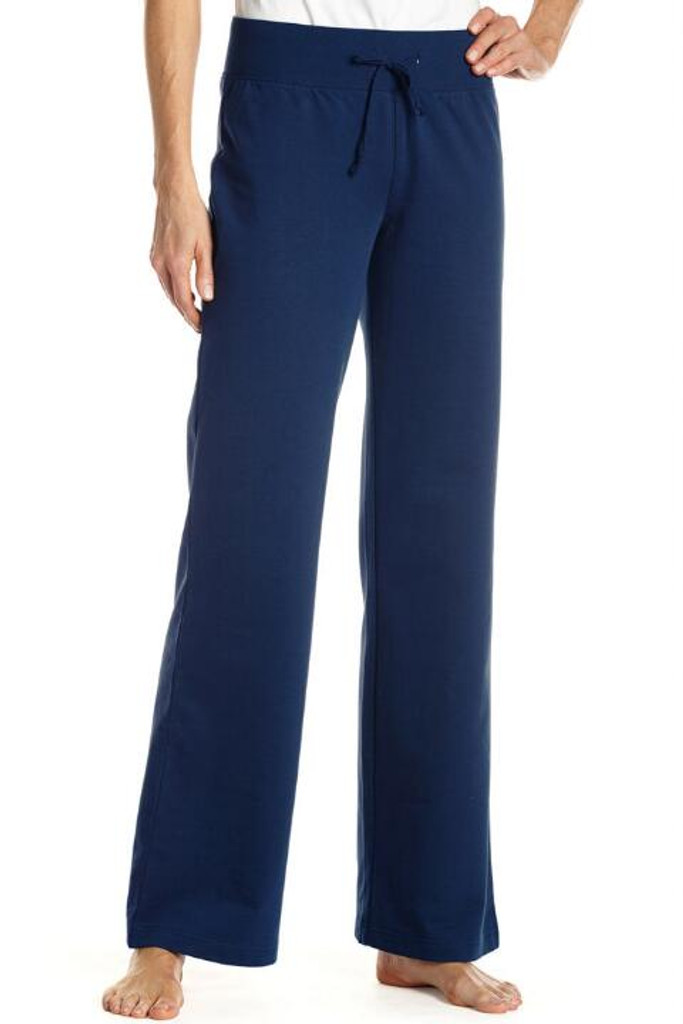Fifth Avenue ZEFIR Wide Leg Relaxing French Terry Pants - Navy Blue