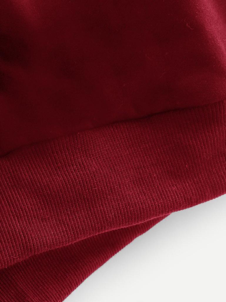 Fifth Avenue NOLB Check Panel Bottom Rib Hoodie - Red