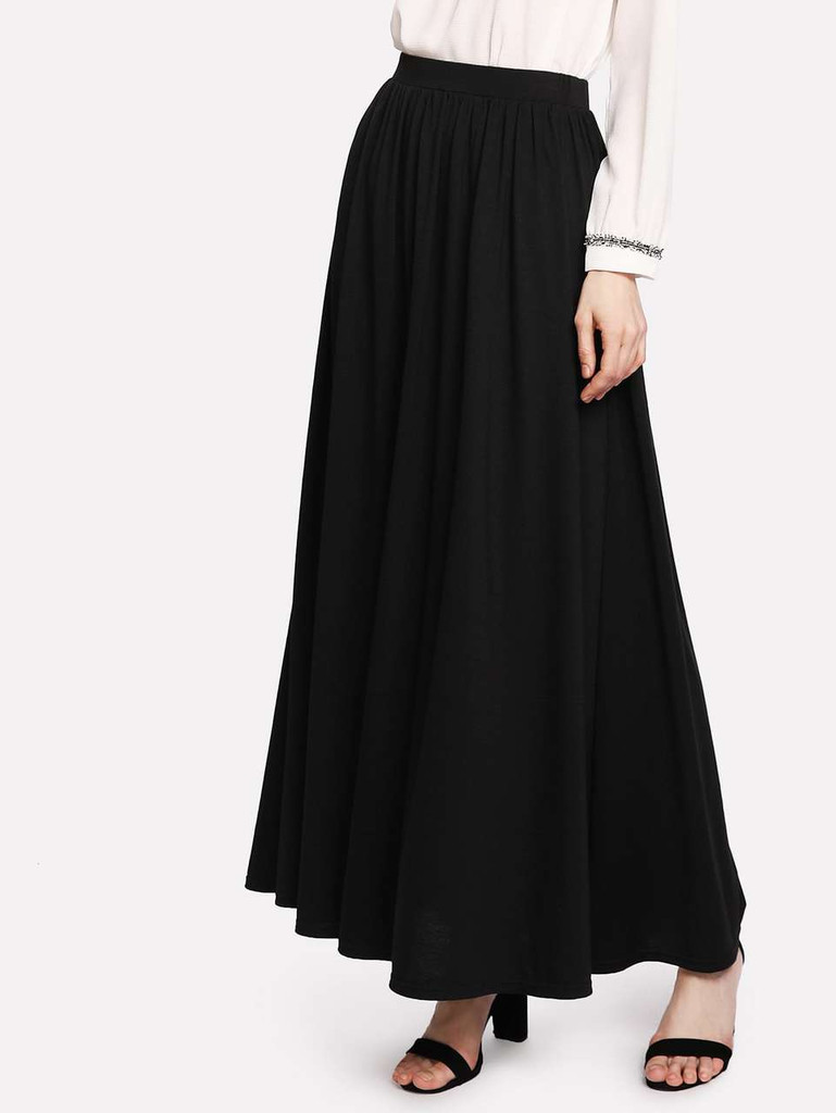 Fifth Avenue Georgette CHIZP Skirt - Black