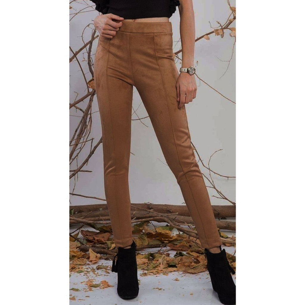 Fifth Avenue Womens S111 Suede Pants - Brown