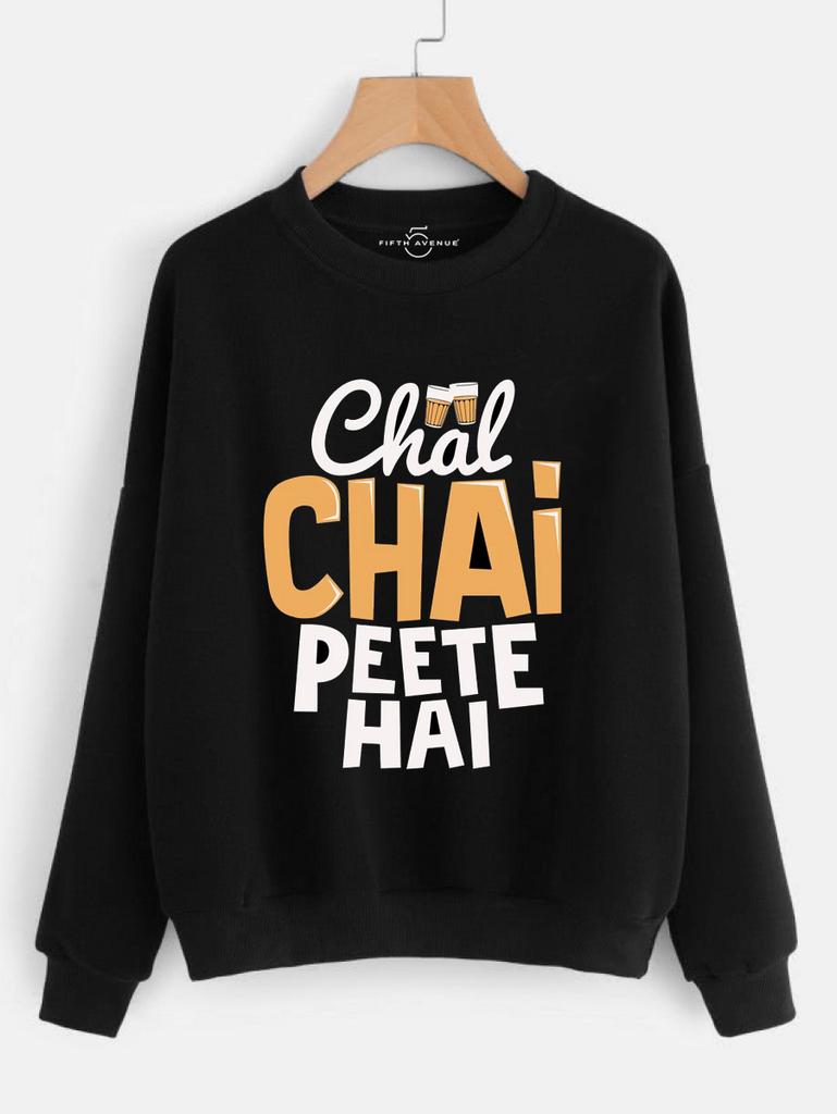 Fifth Avenue Chai Pete Printed Sweatshirt - Black