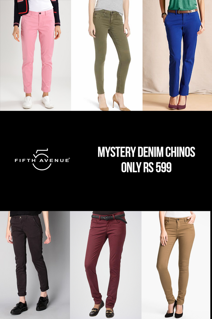 Fifth Avenue Women's Mystery Mania - Mystery CHINO PANTS