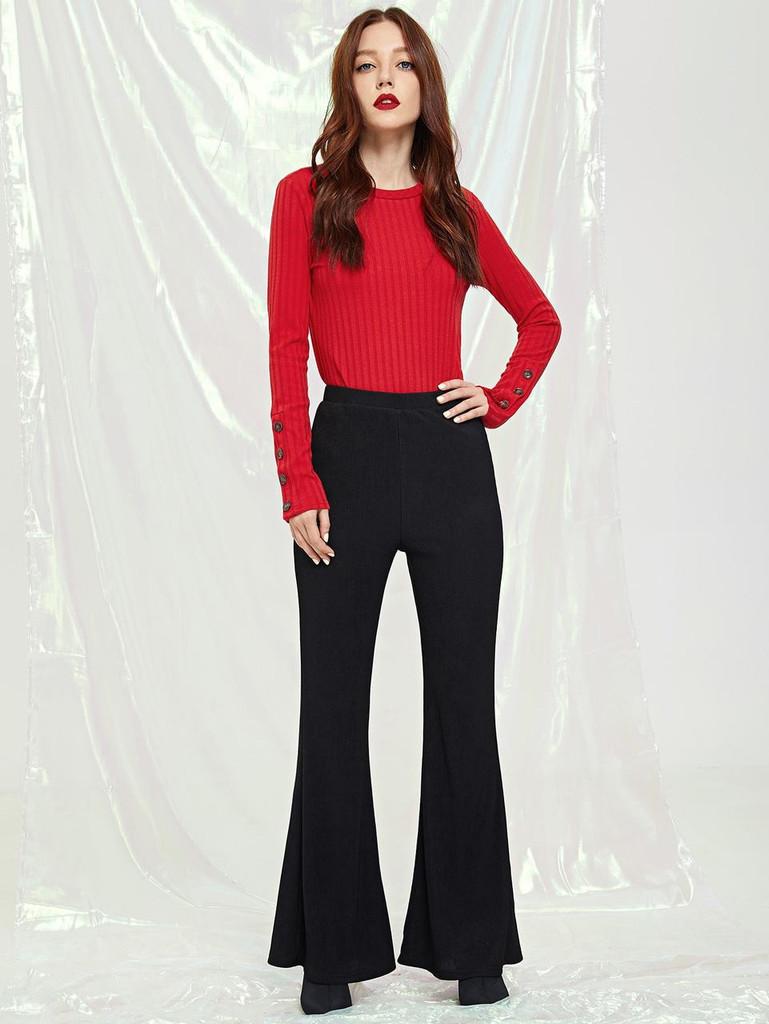 Fifth Avenue Women's AVNO3 Flare Pants - Black