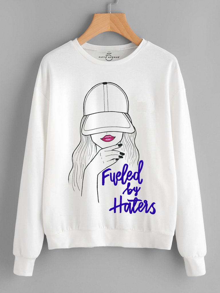 Fifth Avenue Fueled By Haters Printed Sweatshirt - White