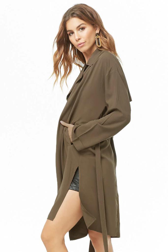 Fifth Avenue Women's RAPT26 Self Tie Fleece Coat - Brown