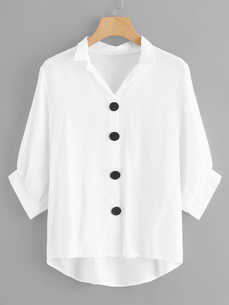 Fifth Avenue Women's UVA1310 Button Up Shirt - White