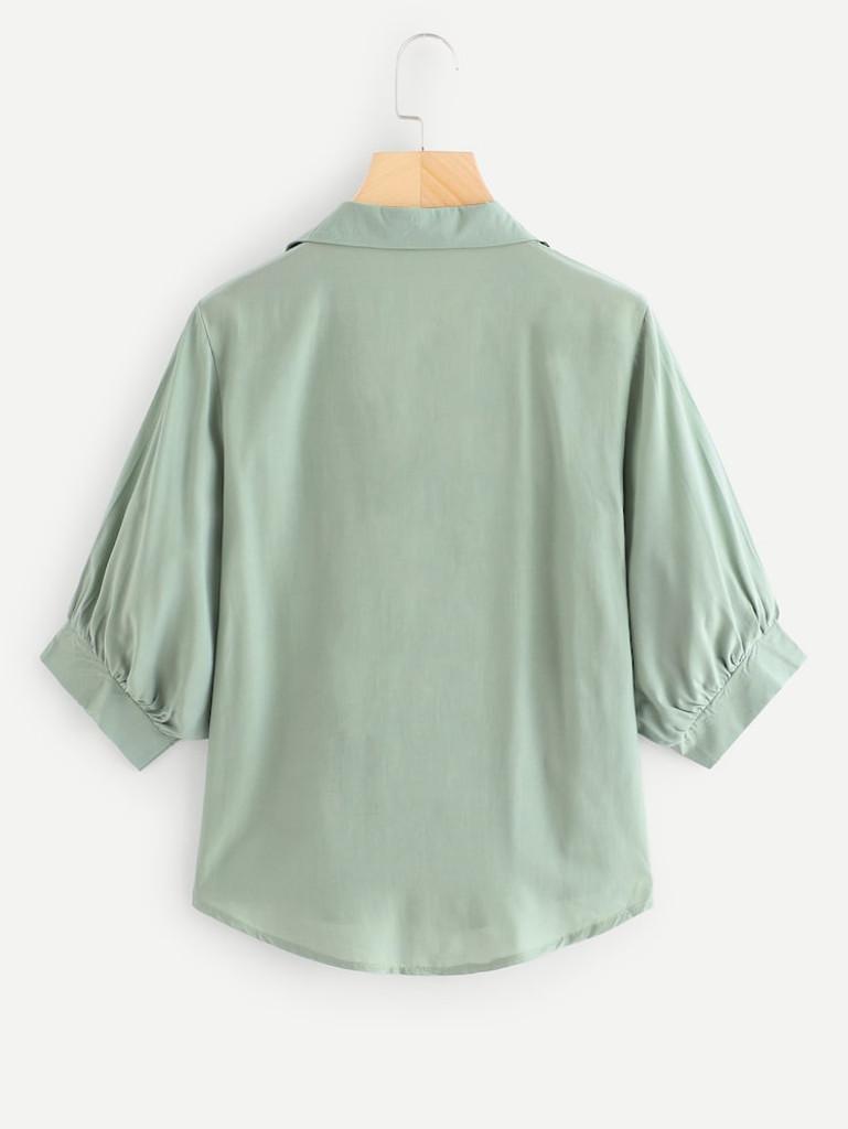 Fifth Avenue Women's UVA1310 Button Up Shirt - Green