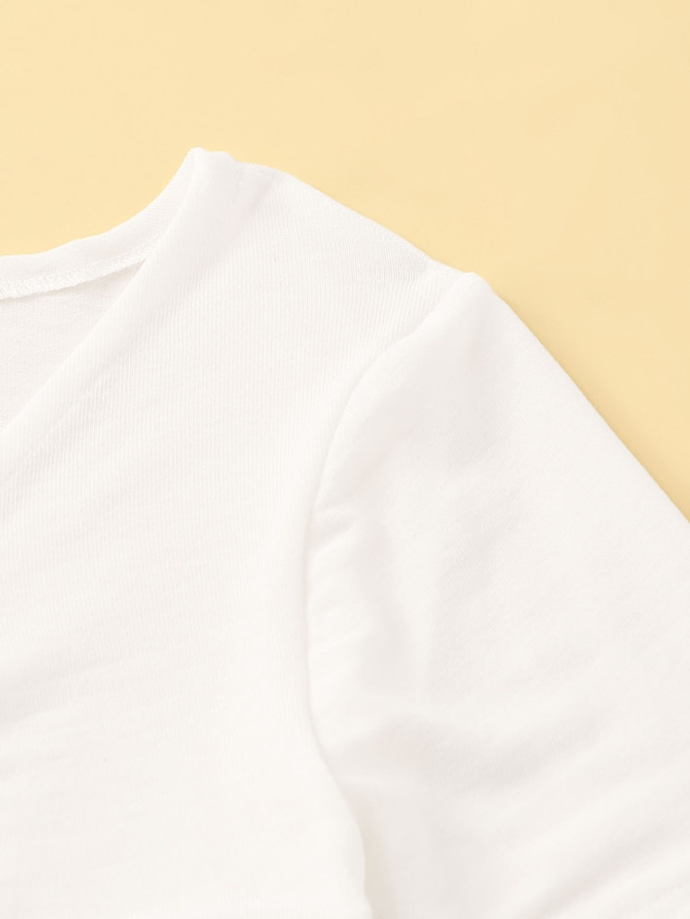 Fifth Avenue Women's Front Shirred STS81 T-Shirt - White