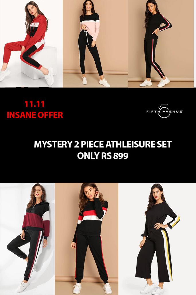 Fifth Avenue Women's Mystery Mania 11 11 Offer - Mystery 2 Piece Athleisure Set