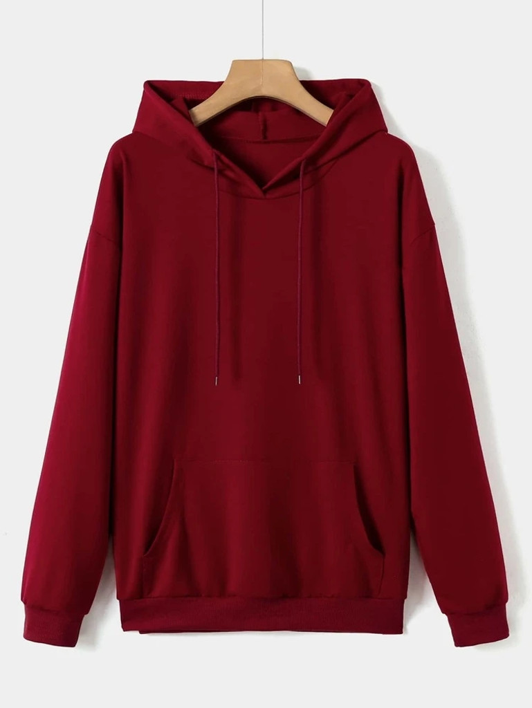Fifth Avenue DIFT84 Dragon Text Print Hoodie - Maroon