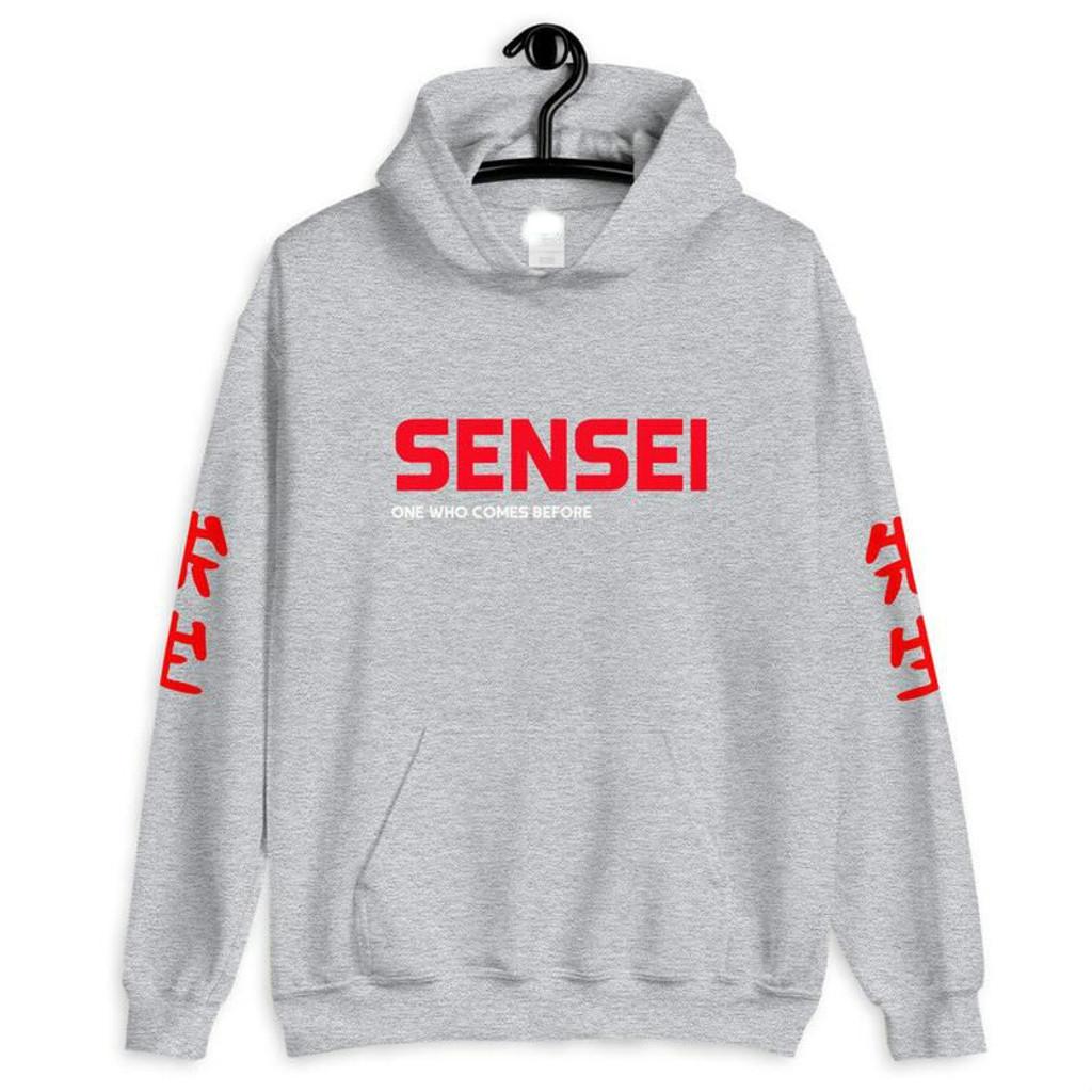 Fifth Avenue DIFT93 Sensei Text Sleeves Print Hoodie - Grey