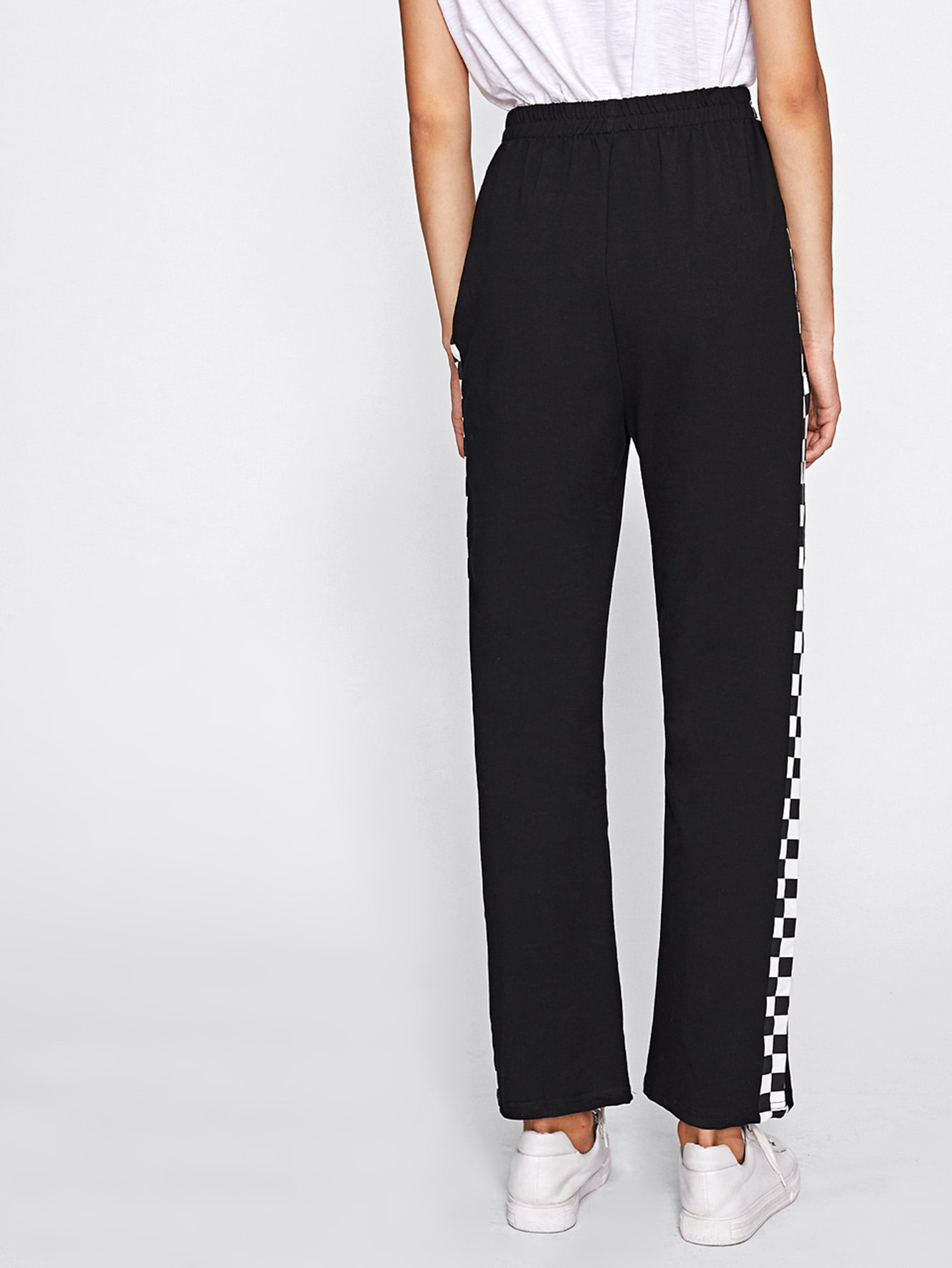 Fifth Avenue Womens Checkered Panel Pants