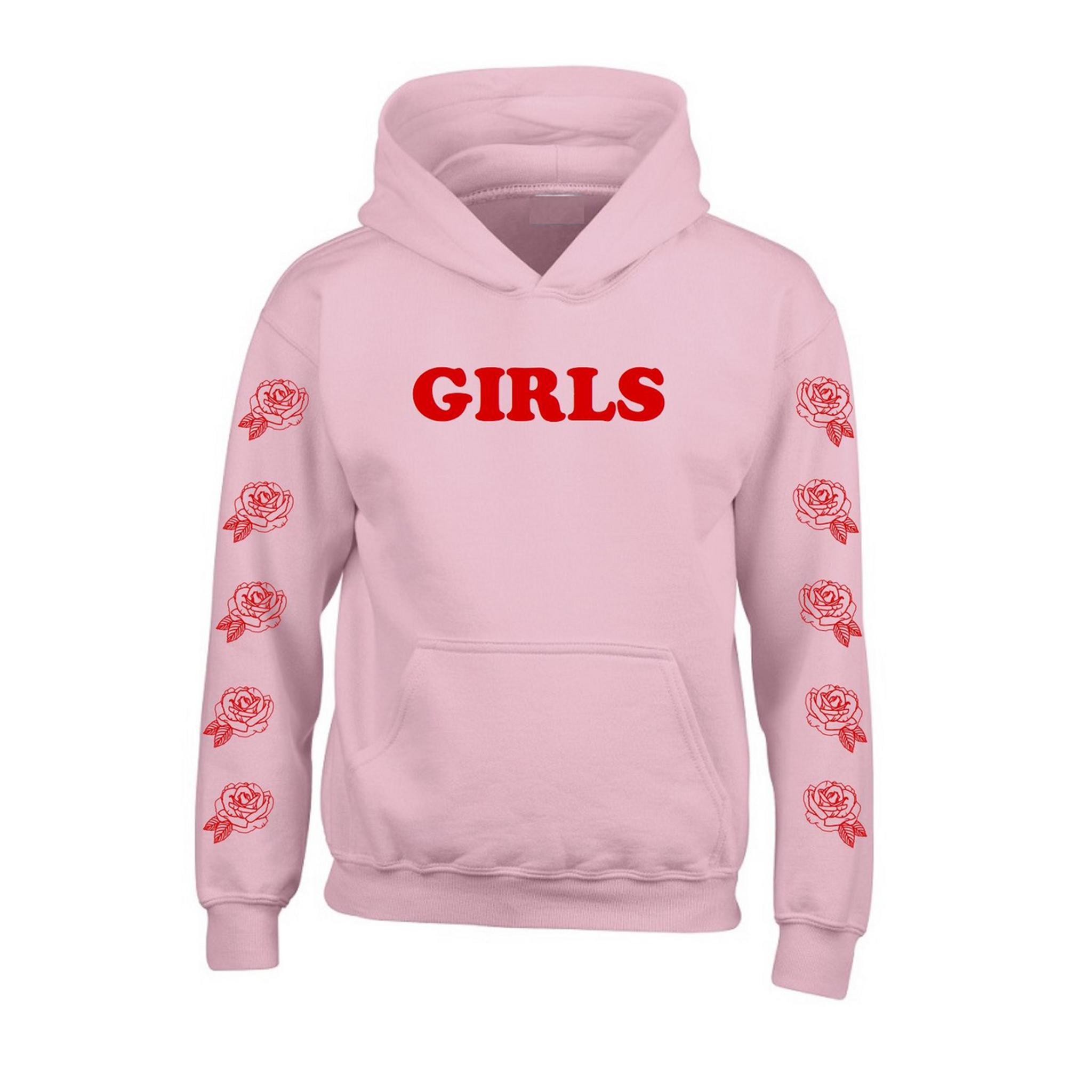 Fifth Avenue Girls Rose Sleeve Print Hoodie - Pink