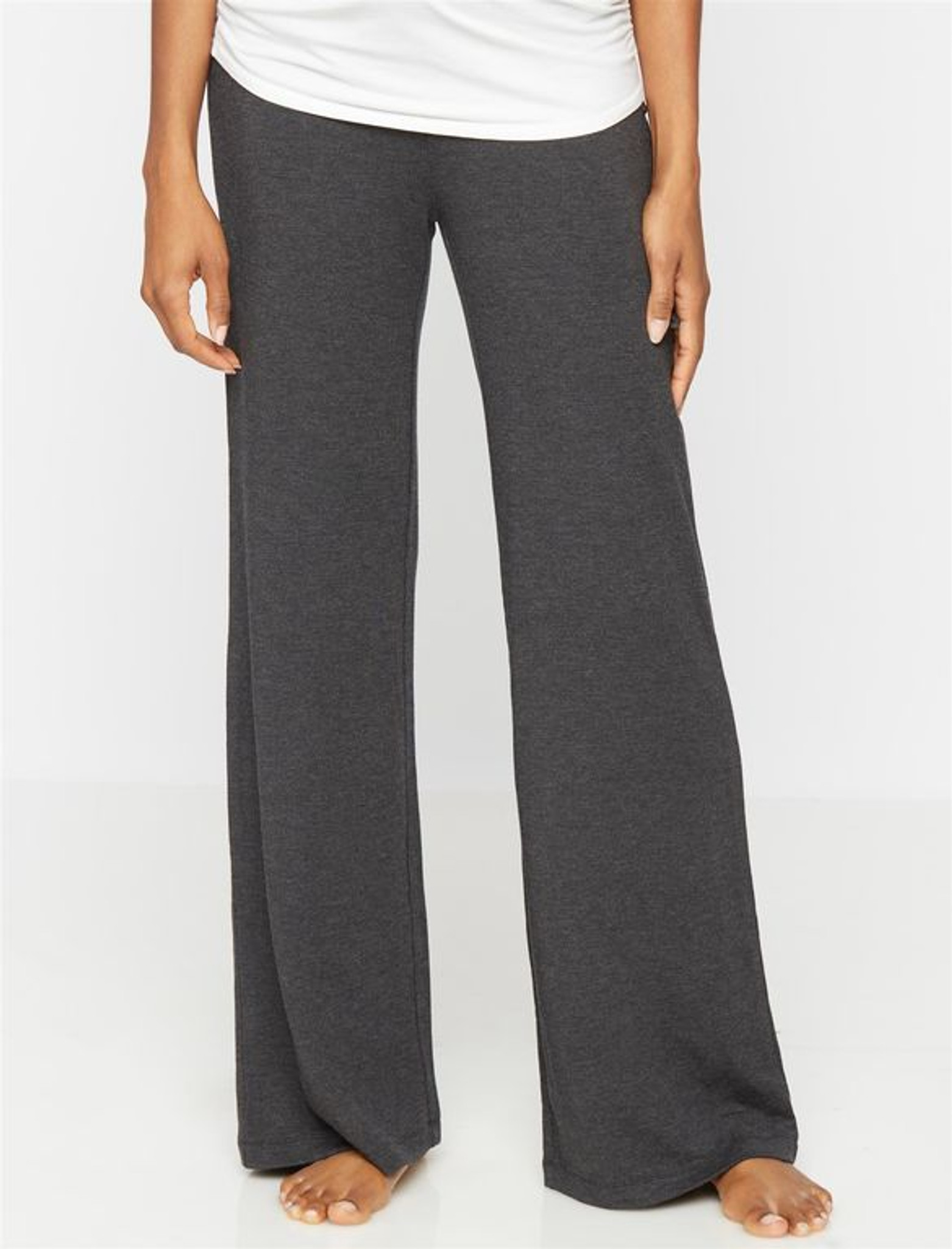 Fifth Avenue ZEFIR Wide Leg Relaxing French Terry Pants - Charcoal