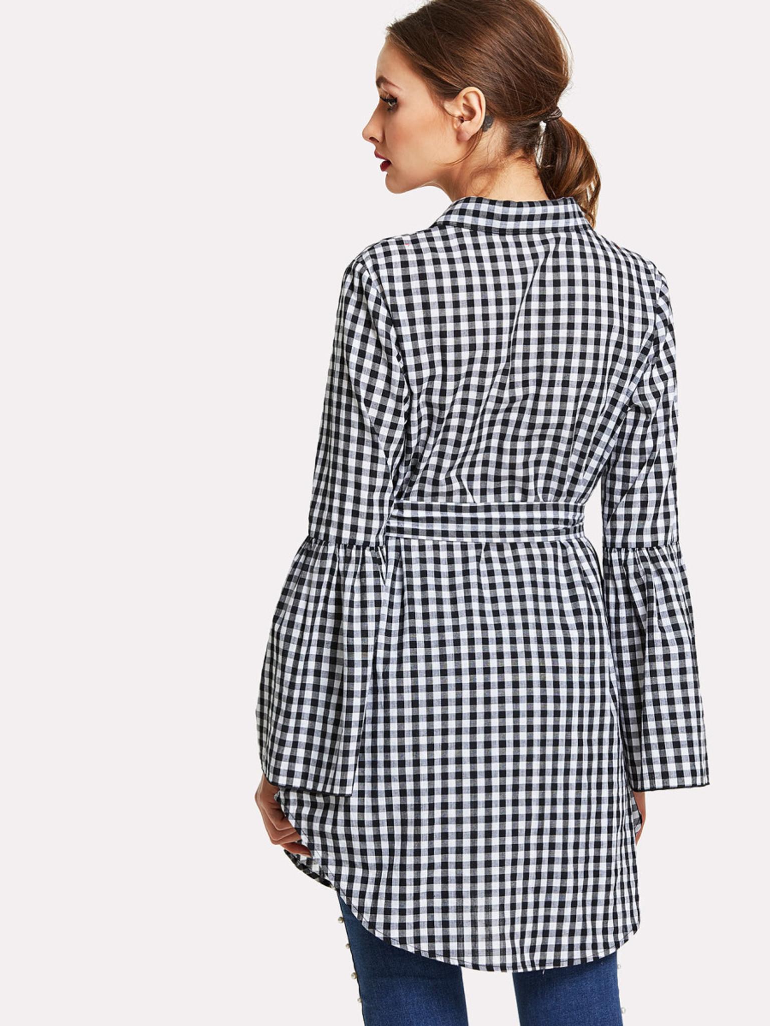 e195472c95ea Black And White Checked Shirts Womens | Saddha