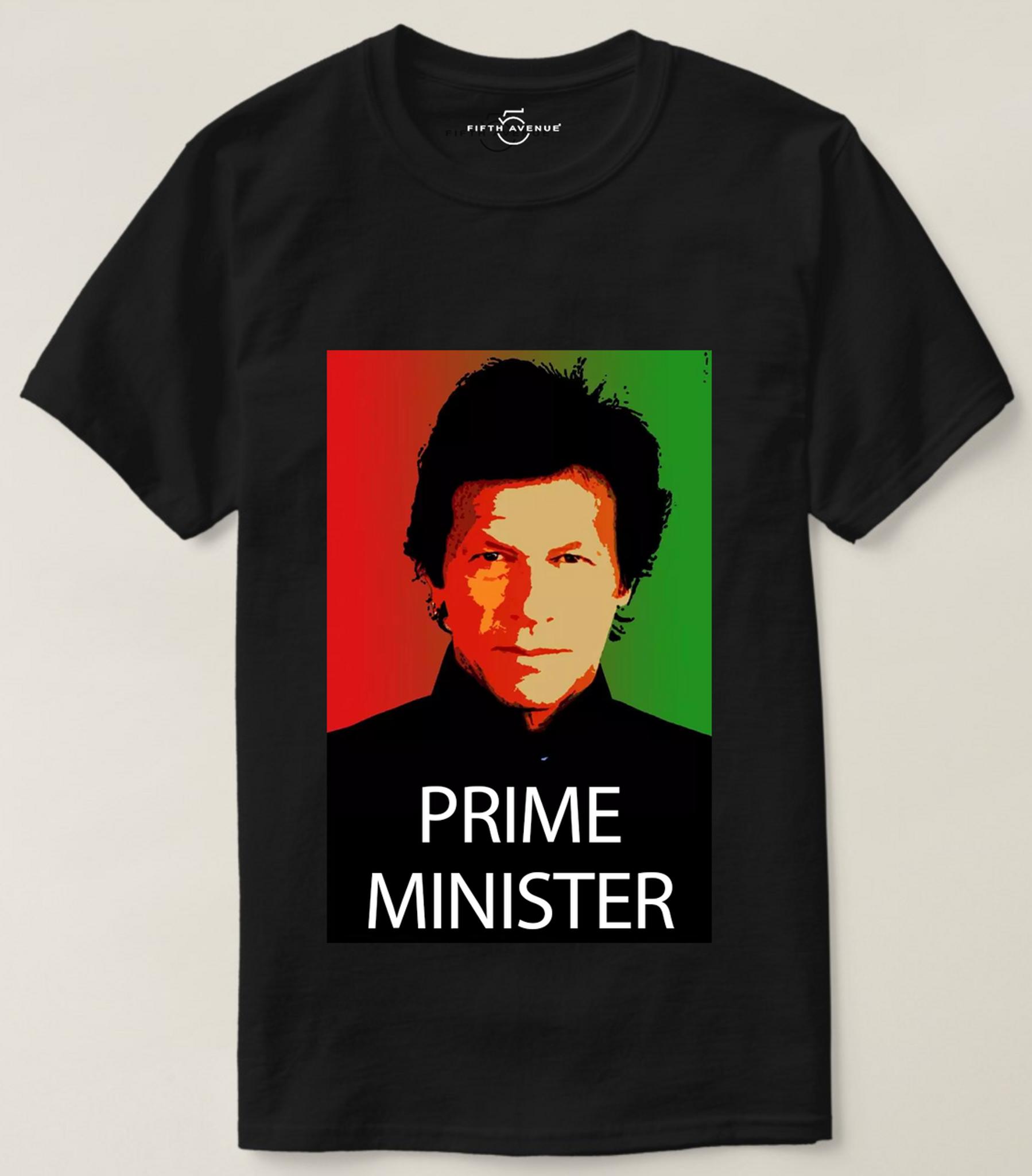 Fifth Avenue My Prime Minister Khan Vector 3 Print T-Shirt - Black