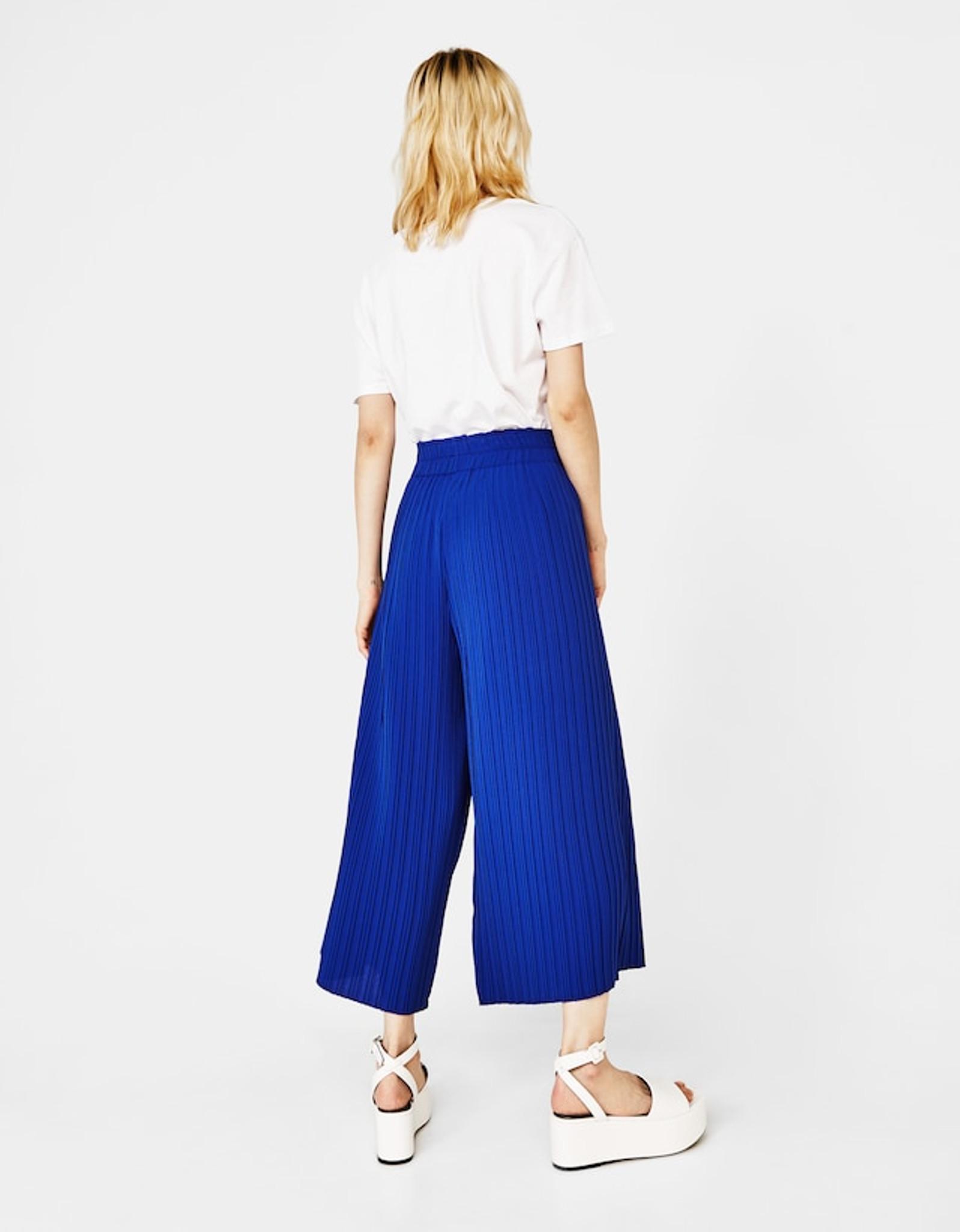 Fifth Avenue Womens Georgette JIMZ Pleated Pants - Royal Blue