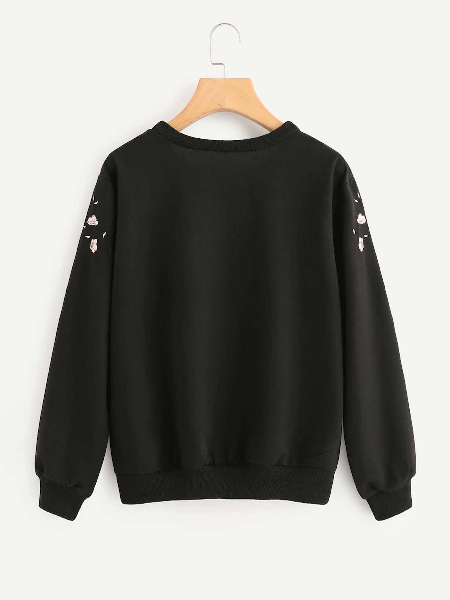 Fifth Avenue JOPJA Rose Petal Printed Sweatshirt - Black