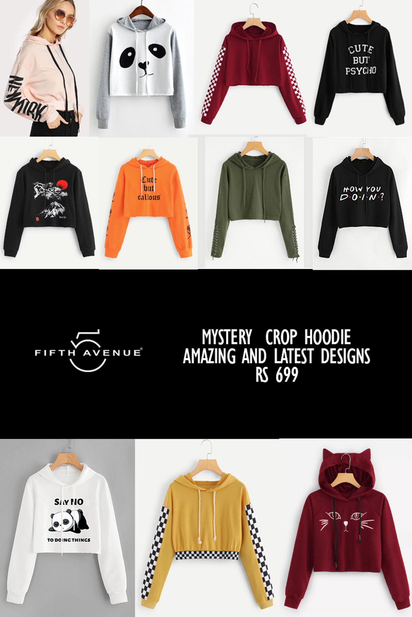 Fifth Avenue Women's Mystery Mania - Mystery Crop Hoodie