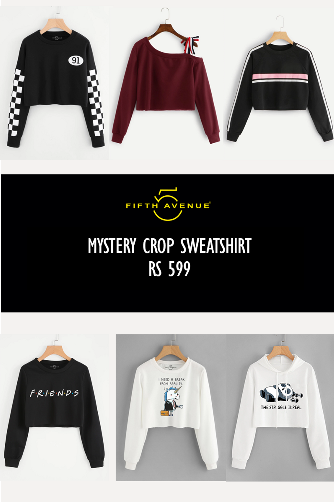 Fifth Avenue Women's Mystery Mania - Mystery Crop Sweatshirt