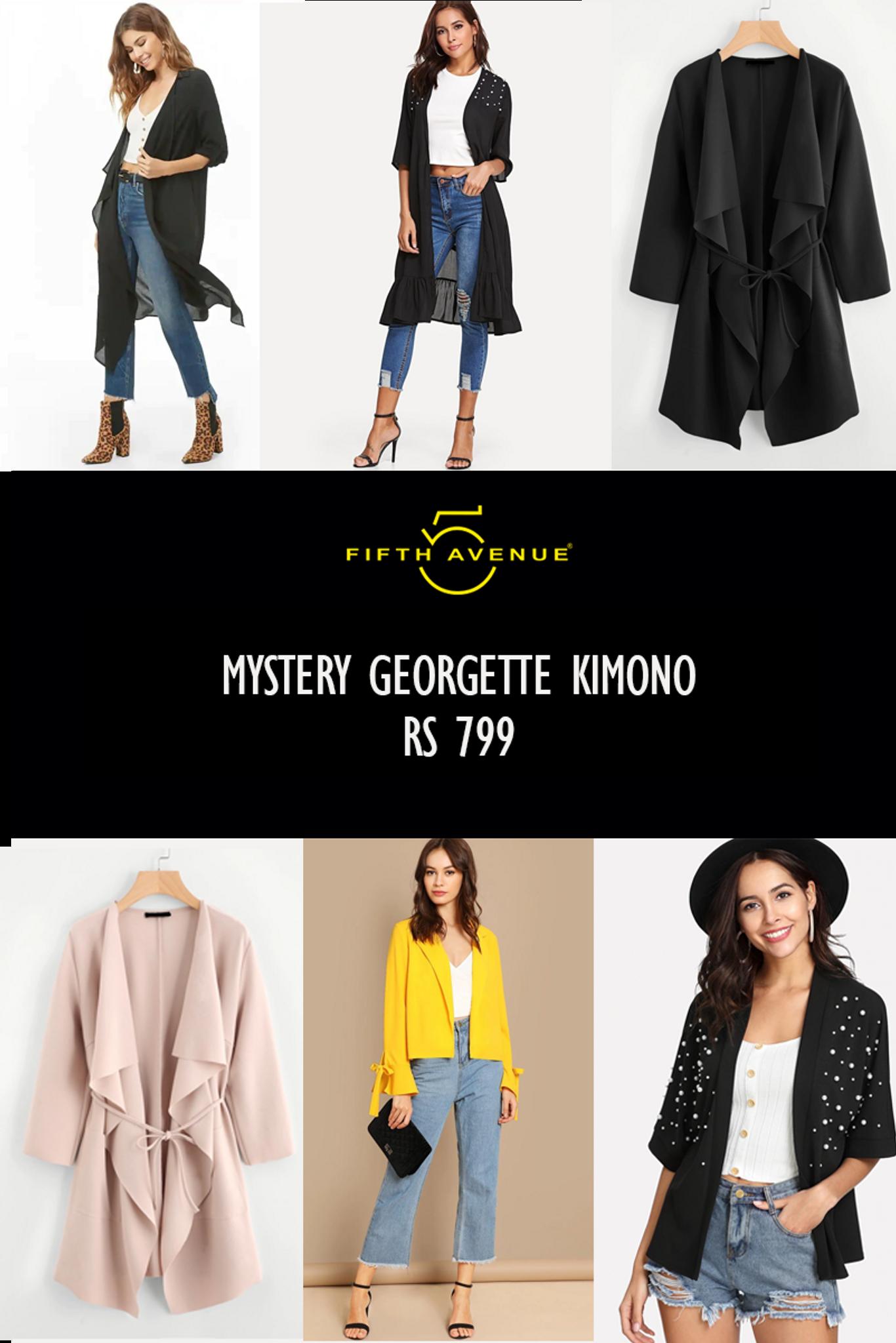 Fifth Avenue Women's Mystery Mania - Mystery Georgette Kimono