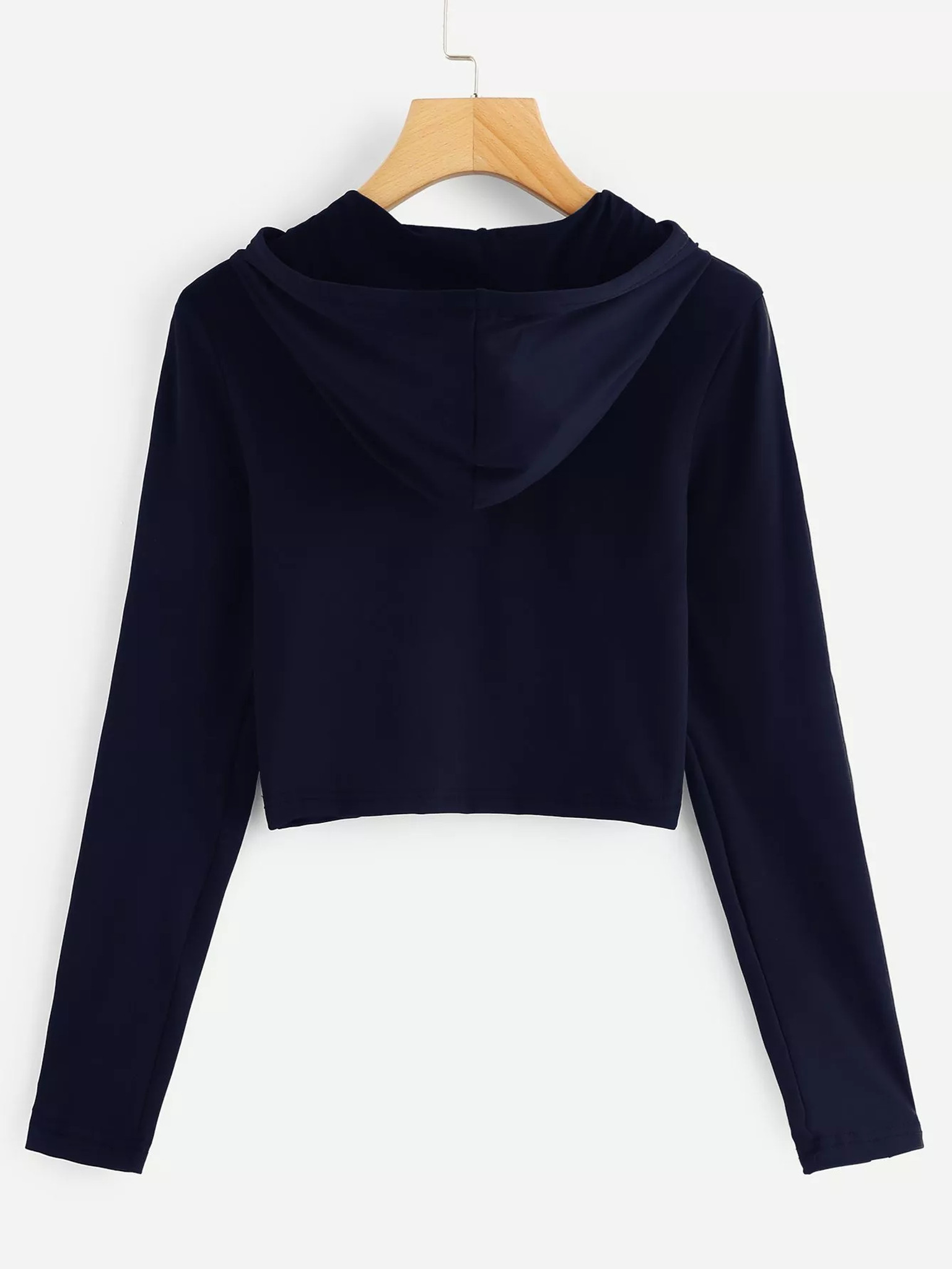 Fifth Avenue Women's STS73 Full Sleeve Striped Hooded T-Shirt - Navy Blue