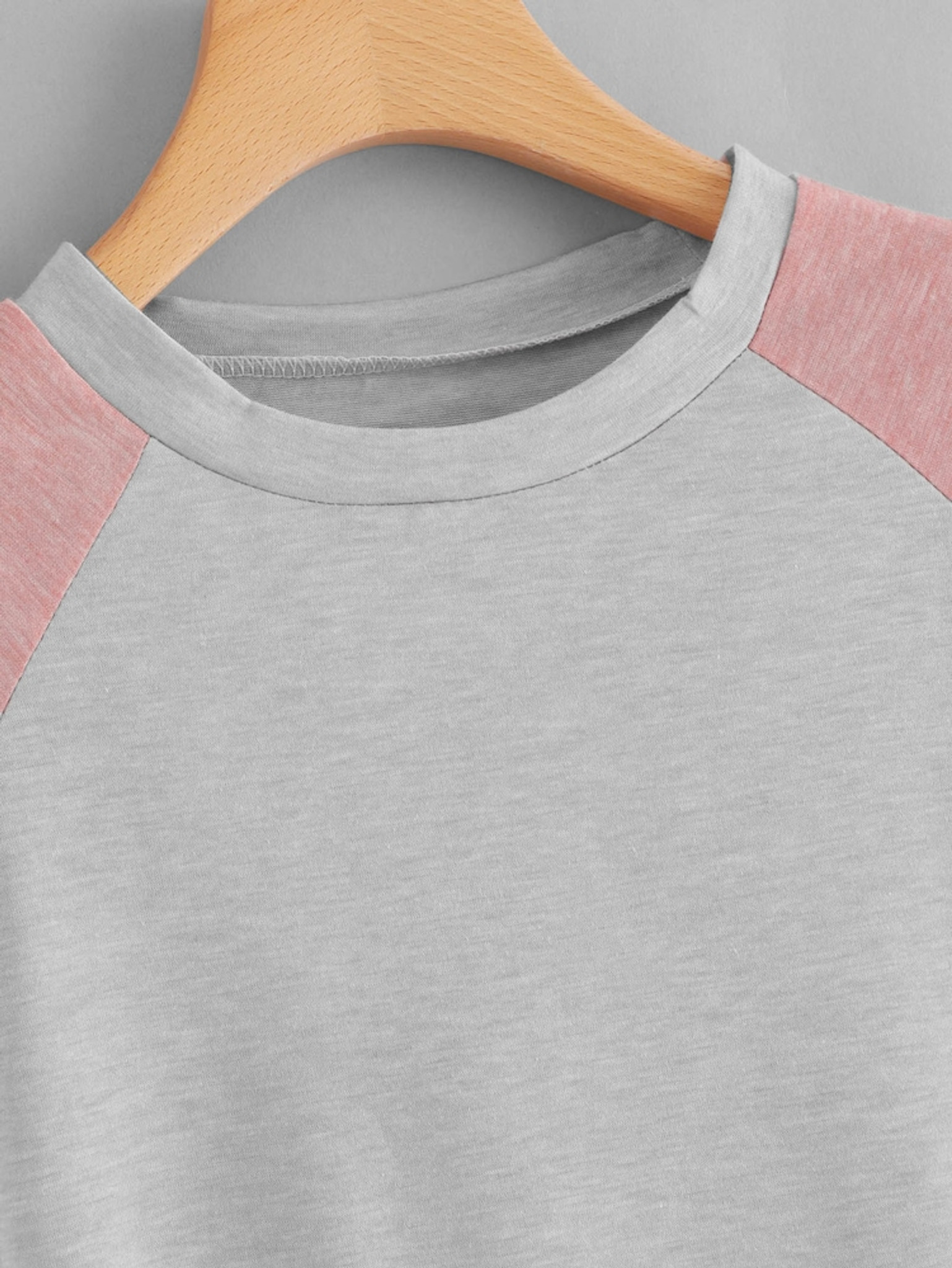 Fifth Avenue Women's Color Block STS80 T-Shirt - Pink White and Grey