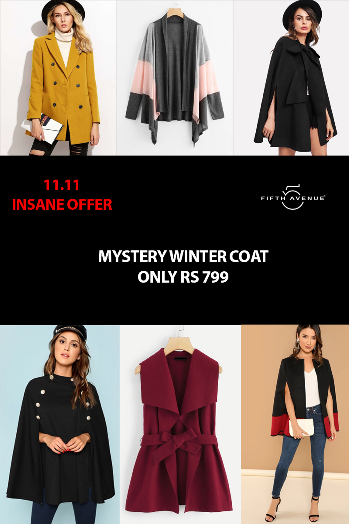 Fifth Avenue Women's Mystery Mania 11 11 Offer - Mystery Winter Coat