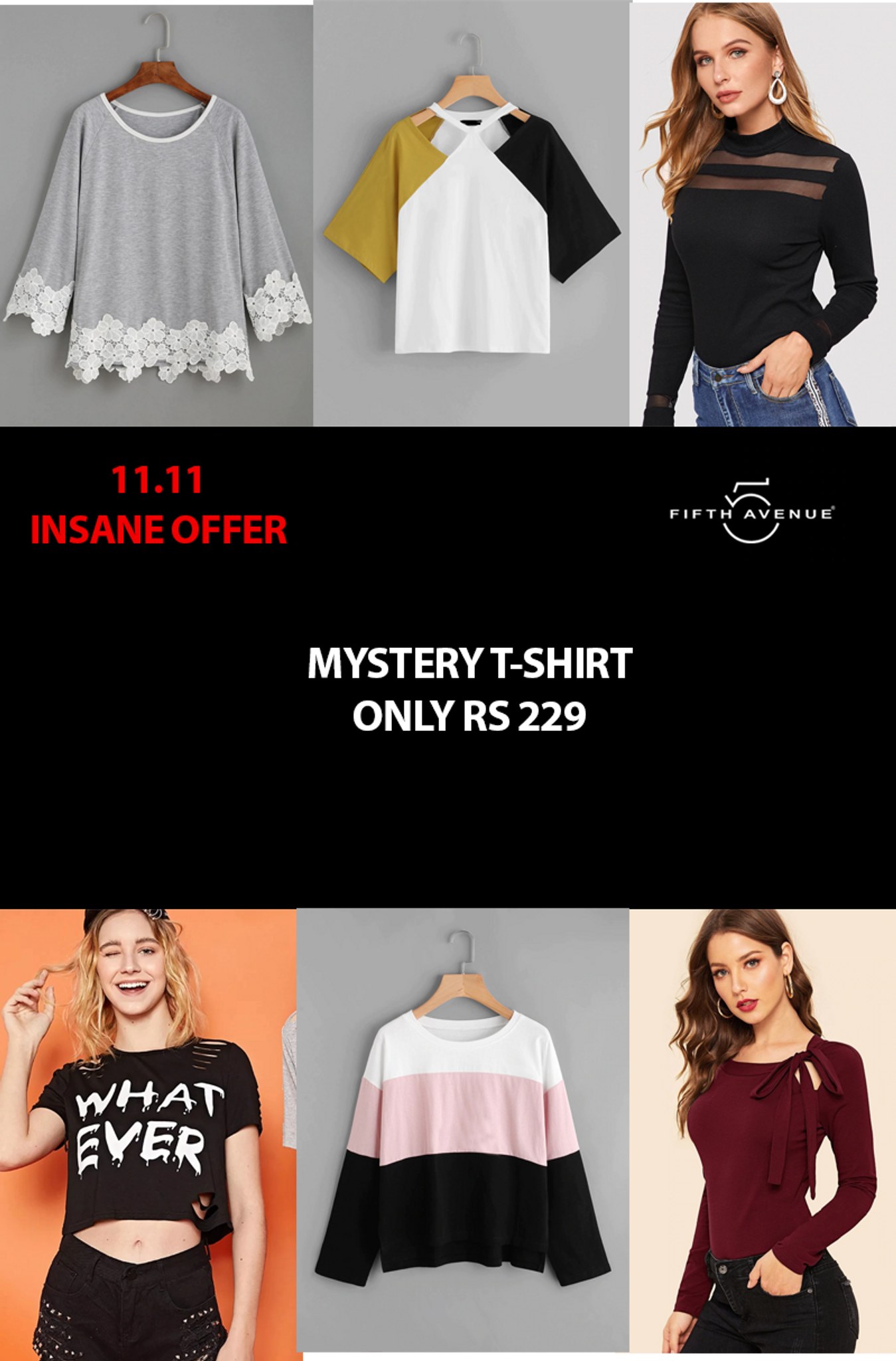 Fifth Avenue Women's Mystery Mania 11 11 Offer - Mystery T-Shirt