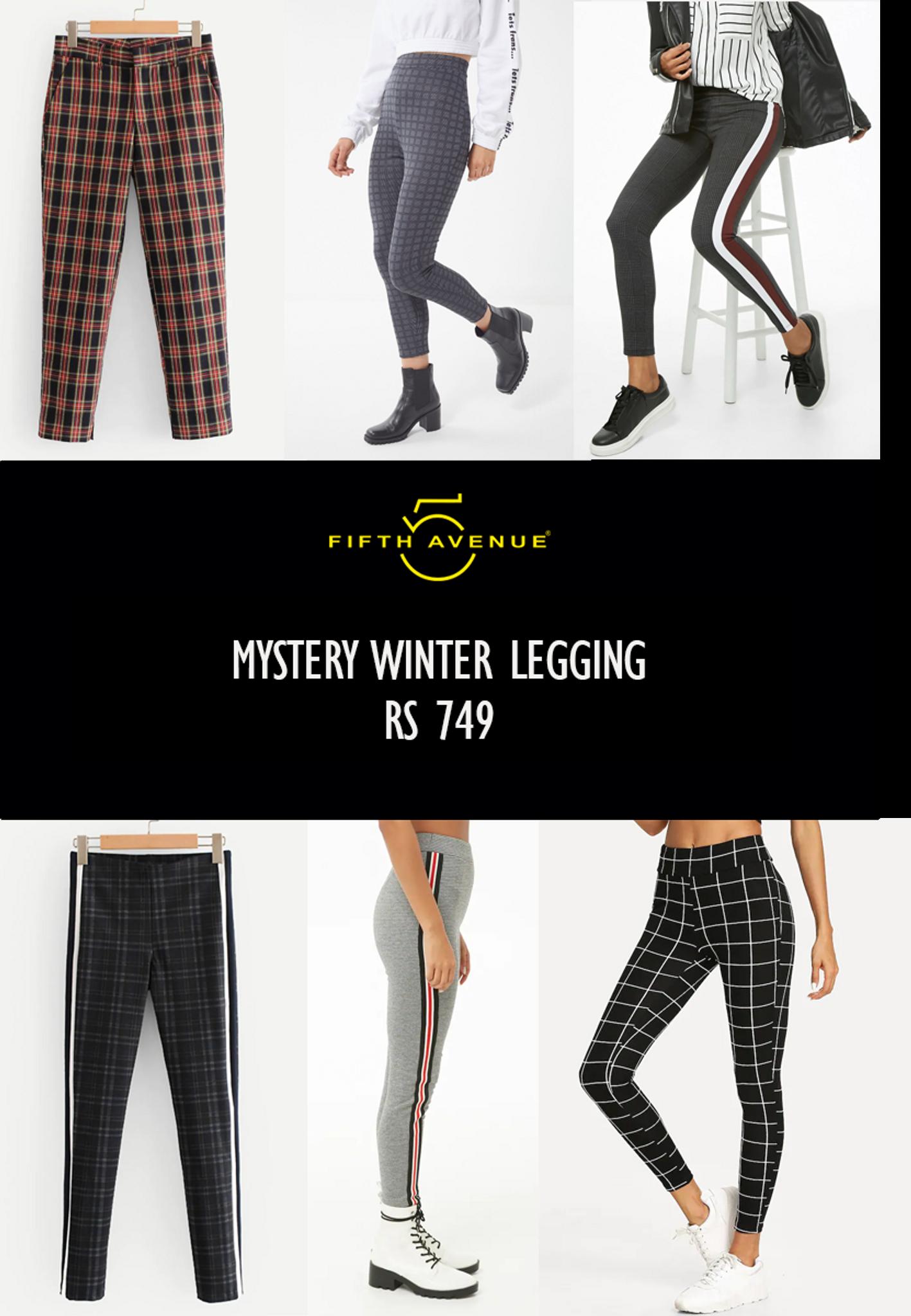 Fifth Avenue Women's Mystery Mania 11 11 Deal - Mystery Winter Leggings