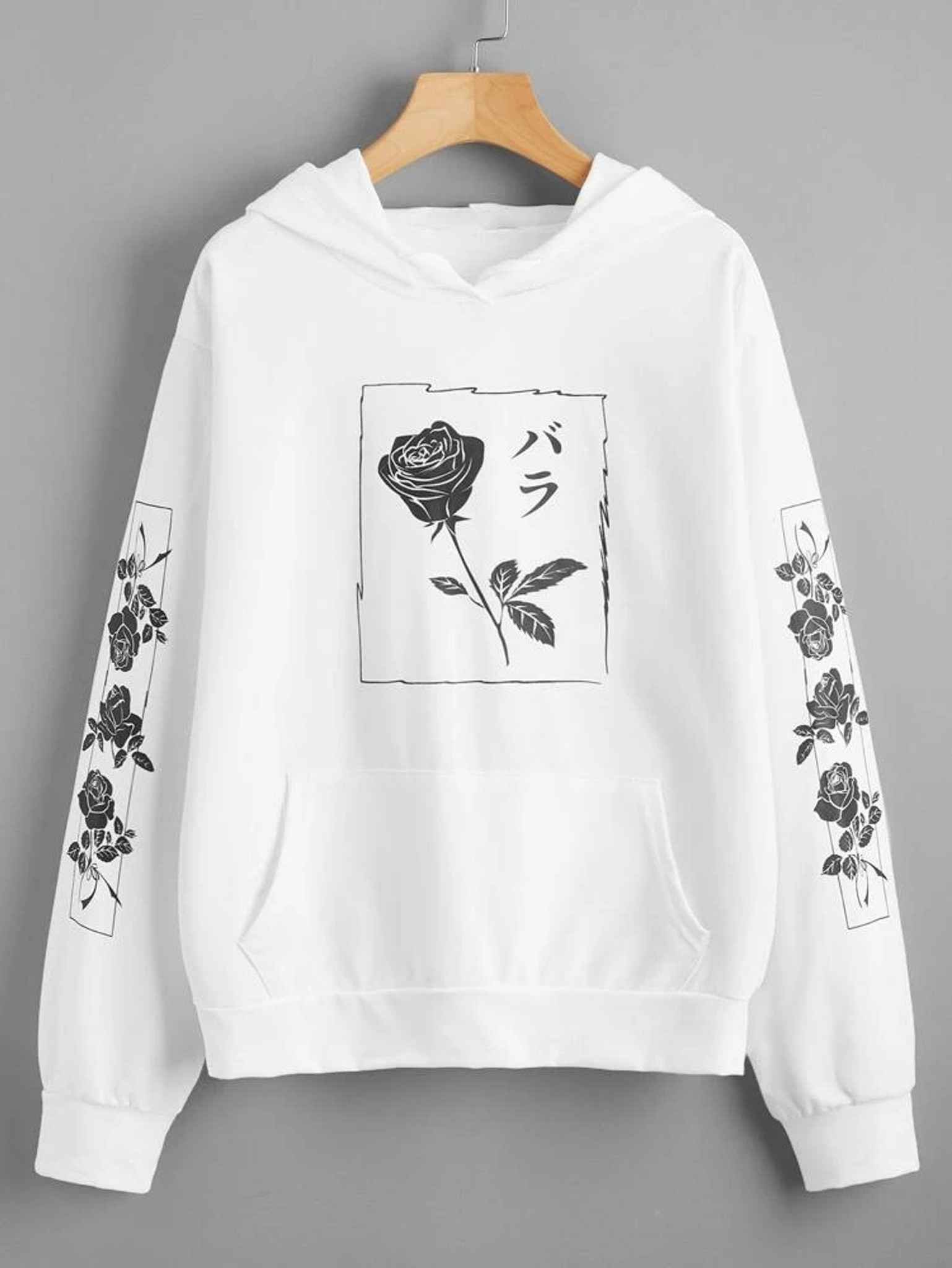 Fifth Avenue DIFT21 Japanese Florals Print Hoodie - White
