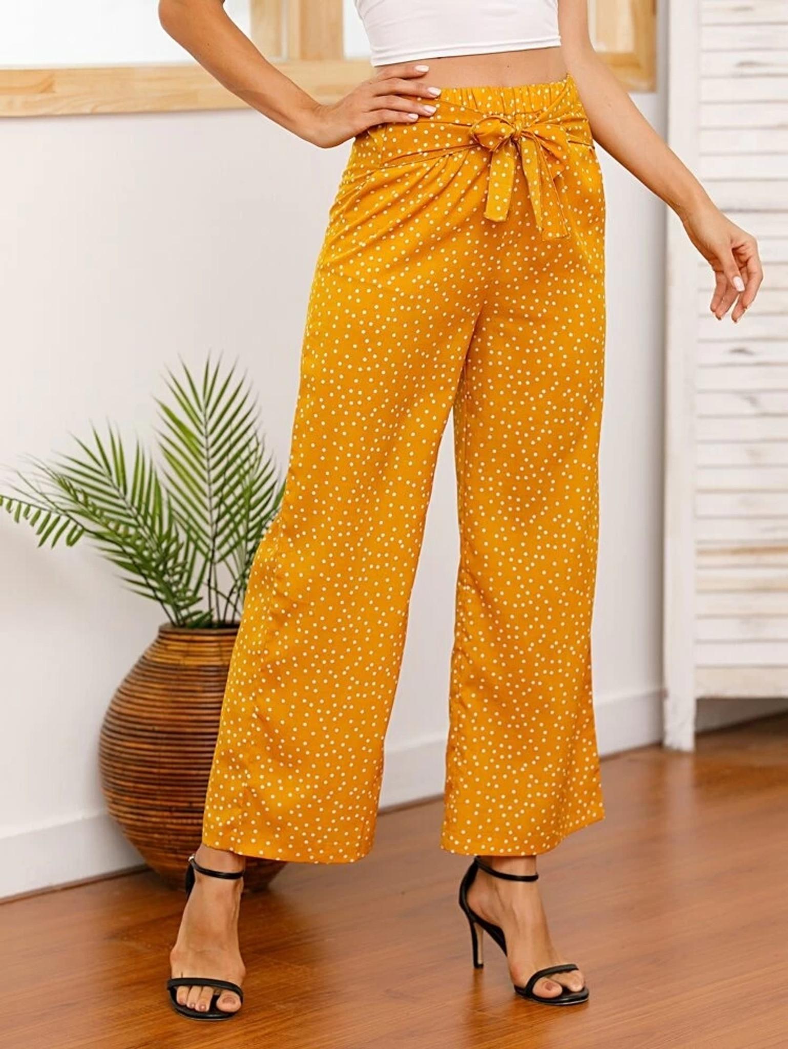 Fifth Avenue Cotton GTTWP32 Polka Dot Print Pants