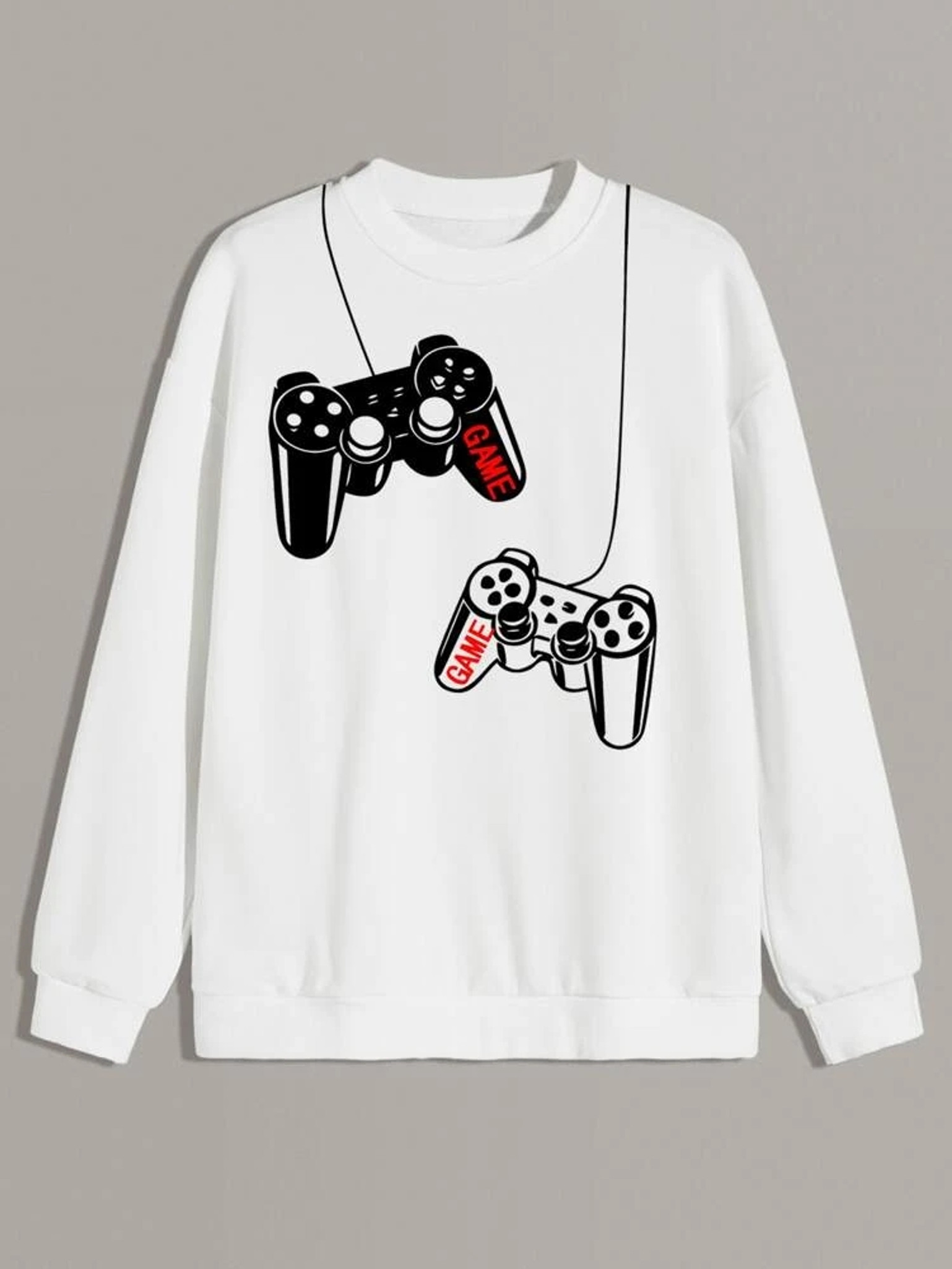 Fifth Avenue Gaming Controller DIFT75 Printed Sweatshirt - White