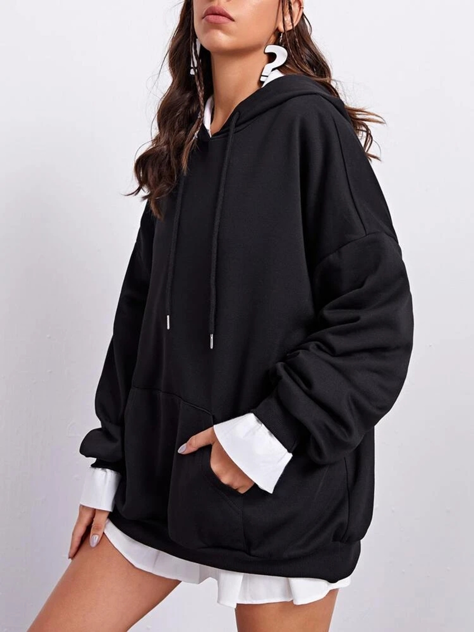 Fifth Avenue DIFT97 Back Space Print Hoodie - Black