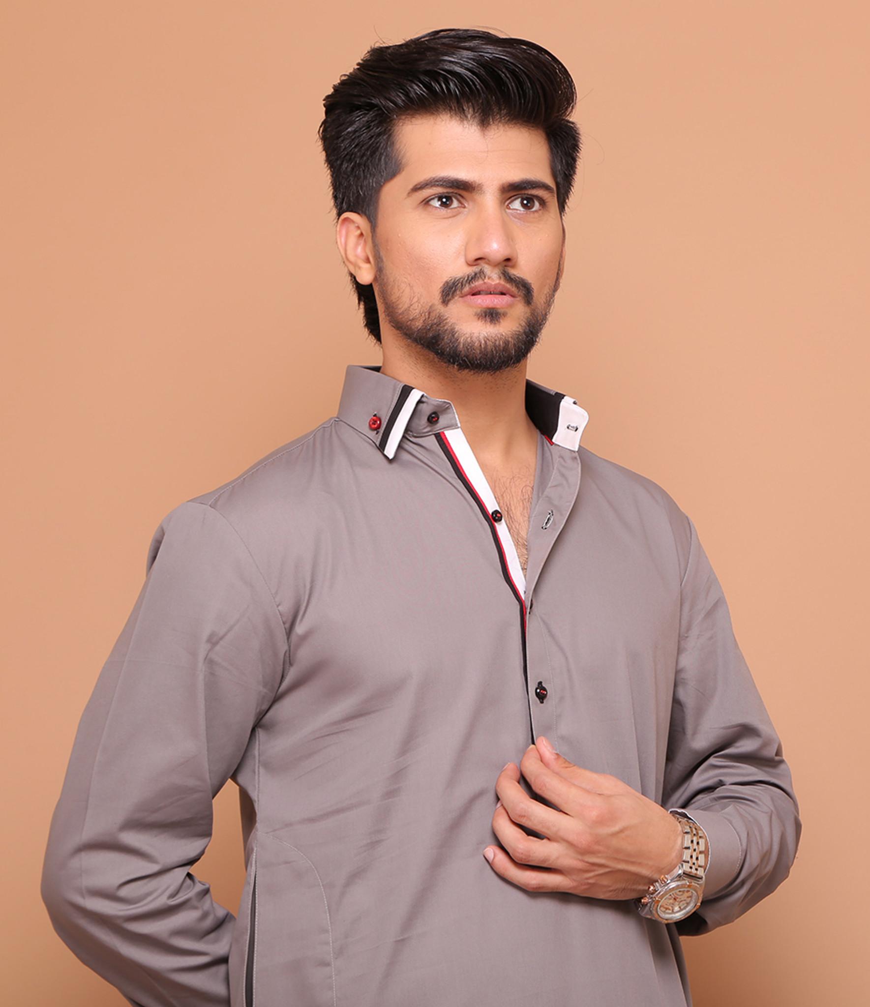 f3a9be6e76 ... Grayer Designer Wear Shalwar Kameez by Fahad & Mustafa ...