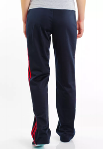 Fifth Avenue Men's Dri-Fit Tri Stripe Track Pants - Navy Blue and Red