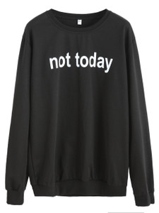 Fifth Avenue Not Today Printed Sweatshirt - Black