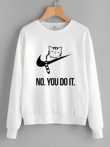 Fifth Avenue No You Do It Printed Sweatshirt - White