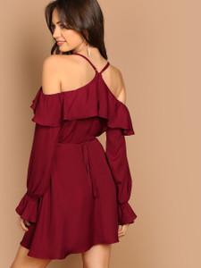 d082f2174aef Fifth Avenue Women s UVA8 Off Shoulder Dress - Maroon