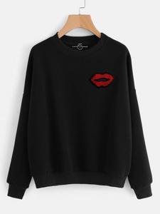 Fifth Avenue RIPZT34 Embroidered Sweatshirt - Black