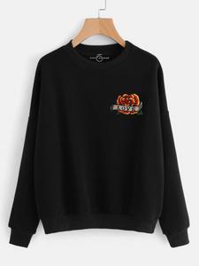 Fifth Avenue RIPZT30 Embroidered Sweatshirt - Black