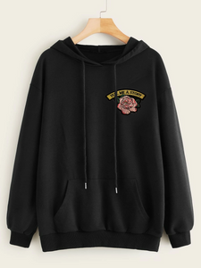 Fifth Avenue RIPZT32 Embroidered Hoodie - Black